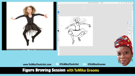 Figure Drawing Session with TeMika Grooms - Little Ballerinas!