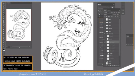 Designing a coloring page (part2) with Anna Daviscourt and Anthony Simms