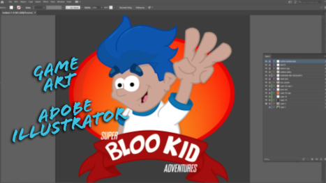 Illustrator: Bloo Kid 3 (Sketch to Graphic)