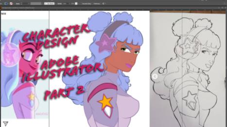 Adobe Illustrator: Character Design! PART 2