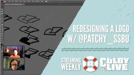 Colby.LIVE | Redesigning a Logo with @Patchy_SSBU
