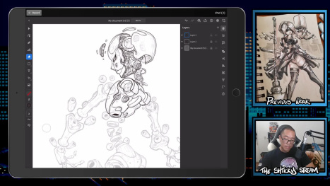 The Mon Stream; Digital Inking and Drawing on an Ipad Pro