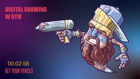 #DigitalDrawingwDTM on the #SkullySeries with #AdobeFresco on #iPadProM1 plus Behance Subscriptions Info