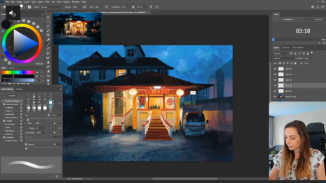 Painting City Environments in Photoshop with Maddy Bellwoar