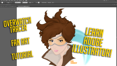 Adobe Illustrator: Overwatch's Tracer from pencil to vector graphic