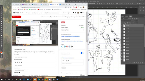 Gesture drawing in Photoshop
