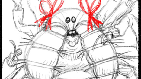 Mark Walton draws more funny bugs for I Eat Poop! part 2
