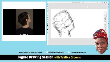 Figure Drawing Session - Drawing Faces with TeMika Grooms